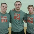 PA Wrestlers Matt McCutcheon, Cody Wiercioch and Connor Schram