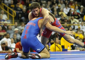 Coleman Scott defeats Logan Stieber in the Olympic Team Trials finals - Photo from tech-fall.com